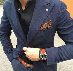 Orange and blue   Raddest Men's Fashion Looks On The Internet: http://www.raddestlooks.org: