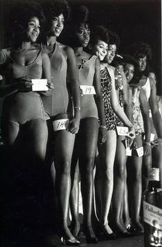 "blackhistoryalbum: "" harlemcollective: "" Harlem Beauty Pageant. 1963. Leonard Freed. Harlem Collective is now on FaceBook. "" – Vintage Black Girl Magic """