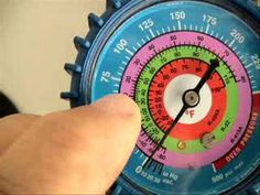 I show how to read manifold gauges and P/T chart. It takes at least two years of HVACR schoo. Hvac Air Conditioning, Refrigeration And Air Conditioning, Hvac Filters, Temperature Chart, Hvac Maintenance, Hvac Repair, Ac System, Home Ac, Power Generator