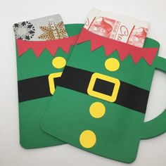 Christmas Elf Hot Cocoa Mug Envelopes - Hot Chocolate Party favors - Gifts for Class, Office, Teache Christmas Crafts For Kids To Make, Christmas Card Crafts, Christmas Gift Wrapping, Christmas Elf, Cocoa, Hot Chocolate Party, Party Favors, Gifts For Office, Kakao