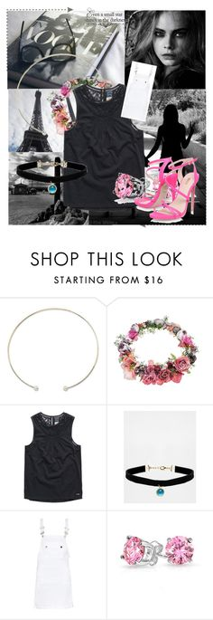 """""""Black&White&Pink"""" by lady-shadylady ❤ liked on Polyvore featuring beauty, Topshop, Rock 'N Rose, Frame Denim and Bling Jewelry"""
