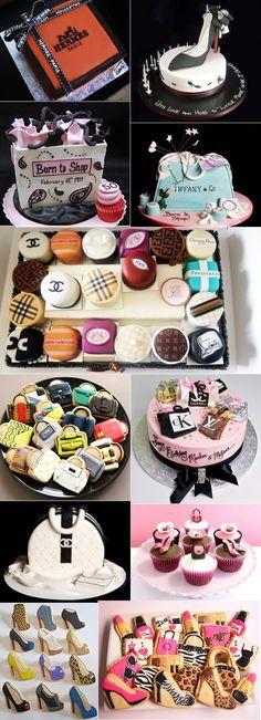 fashion cakes and cupcakes (chanel, hermés, tiffany, louboutin, fendi, burberry, louis vuitton, dior)