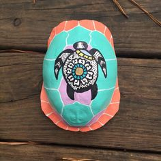 Sea Turtle Painting On Authentic Turtle Shell by WildBohemianMoon