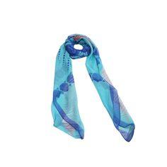 Lenço Big Folha Azul #lenços #lenço #scarf #scarfs