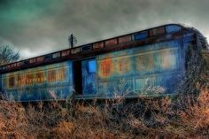 An old abandoned train car in Andalusia, Alabama.