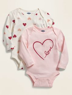 The baby girl clothes new arrivals collection at Old Navy has all the latest styles and essentials for your baby girl including onesies, PJs, and playsets. Baby Girl Pajamas, Carters Baby Girl, Toddler Outfits, Boy Outfits, Girls Clothes Shops, Family Clothes, Reborn Toddler Dolls, Valentines Outfits, Valentine's Day Outfit