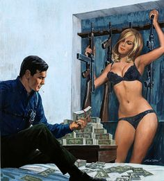 Gil Cohen, this painting was on the cover of Male magazine.