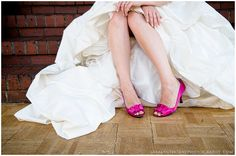 like the hot pink shoes with the dress...