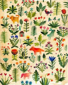 Descubrí a la joven ilustradora Aitch (Rumanía) hace un par de días casi por casualidad y de inmediato me maravillaron sus colores y la me...