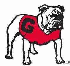 UGA 1960s Bulldog logo bulldogs, dawgs