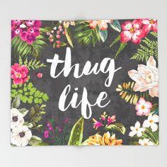 Thug Life Throw Blanket