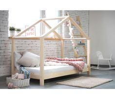 Scandi Chunky Frame Bed Bed Frames Uk, House Frame Bed, Wooden Bed Frames, Scandinavian Bed Frames, Scandinavian Home, European Furniture, Unique Furniture, Home Furniture, House Beds For Kids