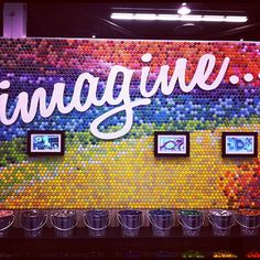 Awesome wall art made from bottlecaps #CHA