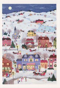 Christmas village (Grandma Moses?)