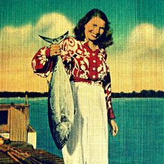 Catch of the Day Vintage Florida, Old Florida, Beach Art, Beach Pictures, Painting, Postcards, Inspiration, Beach House, Sisters