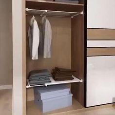 Teen Bedroom Designs, Bedroom Closet Design, Closet Designs, Small Deep Closet, Small Closets, Tiny Closet, Kitchen Bookcase, Kitchen Pantry Design, Kitchen Ideas