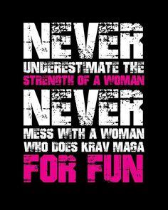 Never underestimate a girl who does krav maga for fun