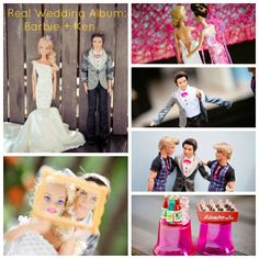 A wedding photography cautionary tale for photographers and brides & grooms! 2 Real Wedding Album Barbie and Ken. More: http://totallyloveit.com/real-wedding-album-barbie-and-ken/ What's crazy about this is notice how generic the photo situations are - reminiscent of how many people today copy each other on Pinterest. Don't be lazy, be original with your wedding photography! #WeddingPlanning #WeddingTip #WeddingPhotography