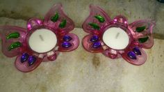 Butterfly glass candles decoration