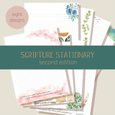 Writing Paper, Letter Writing, Scripture Lettering, Letter Stationery, Printable Letters, Above And Beyond, Letter Size, Cherry Blossom, Stationary