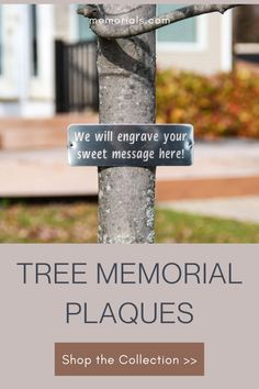 The Tree Memorial Marker Plaque is a wonderful item to personalize a tree or memorialize a loved one. Add a customized message to capture the right words for a tribute to a loved one. Shop this lovely piece of cemetery or memorial site decor at memorials.com In Loving Memory Gifts, Personalized Memorial Gifts, Cemetery Vases, Memorial Markers, Memorial Ideas, Sweet Messages, Funeral Flowers, Pet Memorials, Sympathy Cards