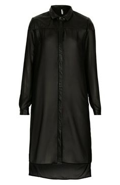 Topshop 'The Collection Starring Kate Bosworth' Leather Trim Shirtdress available at #Nordstrom
