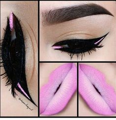 Love the lips ♡ Eye makeup looks awesome too