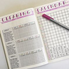tidy home inspiration 13 Bullet Journal Cleaning Spreads Youll Love! Amazing cleaning tracker bujo ideas to try out in your bullet journal! cleaning tracker monthly spread ideas as well as weekly to keep a neat and tidy home! Deep Cleaning Tips, Cleaning Checklist, House Cleaning Tips, Cleaning Hacks, Bullet Journal Cleaning Schedule, Spring Cleaning Schedules, Diy Hacks, Filofax, Bujo