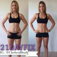 21 day fix results! I'm in day 3 I LOVE this program and