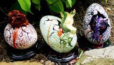 OOAK Dragon Egglett Shy Green   DreamingTreeStudio - Sculpture on ArtFire