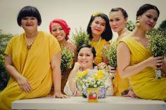 the colour of bridesmaids' dresses
