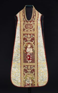 Chasuble Date: 16th century Culture: Italian Medium: Silk, metal, linen Accession Number: 2009.300.2950