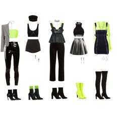Kpop Fashion Outfits, Stage Outfits, Girly Outfits, Dance Outfits, Cute Comfy Outfits, Stylish Outfits, Fashion Drawing Dresses, Summer Outfits For Teens, K Pop