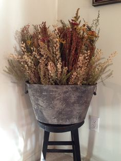 Dried Flowers ~ Wash Tub