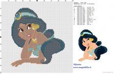 Princesa Jasmine patrón punto de cruz