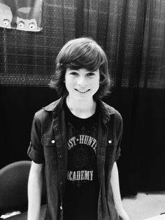 Chandler Riggs I love this picture