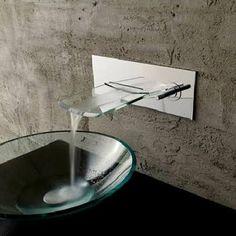 wall mounted waterfall faucet, motion sensor - Google Search