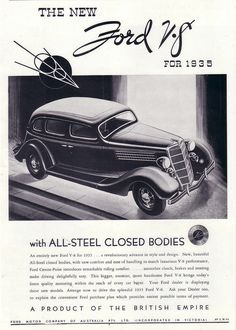 1935 Ford V8 Sedan Ad - Australia by Five Starr Photos ( Aussiefordadverts), via Flickr