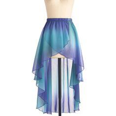 Mermaid for Each Other Skirt ($48) ❤ liked on Polyvore featuring skirts, bottoms, blue, dresses, see through skirt, stretchy skirt, elastic waist skirt, stretch skirt and sheer skirt