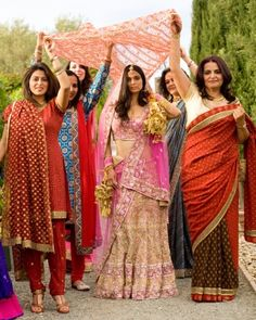 Gauri, accompanied by her female family members, walked down the aisle to music played by a classical Indian band.