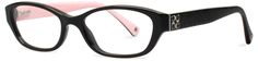 Coach black (and pink) eyeglasses, model hc6002, for 198