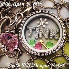 """Love #tinkerbell or #disney?  Here is a beautiful way to express that and wear it close to your heart!   Click """"contact me"""" to get the #shooting star and wand charm!"""