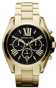 Michael Kors Watch, Womens Chronograph Bradshaw Gold Tone Stainless Steel Bracelet - First @ Macys! - All Michael Kors Watches - Jewelry Watches - Macys Bijoux Michael Kors, Michael Kors Armband, Michael Kors Gold, Outlet Michael Kors, Handbags Michael Kors, Mk Handbags, Stainless Steel Jewelry, Stainless Steel Watch, Michael Kors Chronograph