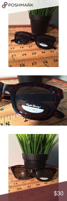 NEW English Laundry Wayfarer Sunglasses NEW WITHOUT CASE. Brown in color and never worn. English Laundry Accessories Sunglasses