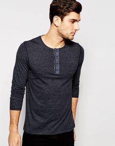 b7280d39 Image 1 of Produkt Long Sleeve Grandad Top Men's Shirts, Men's Clothing,  Men's Fashion