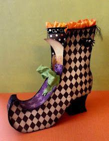 My Craft Spot: Fun 3-D Witch's Boot