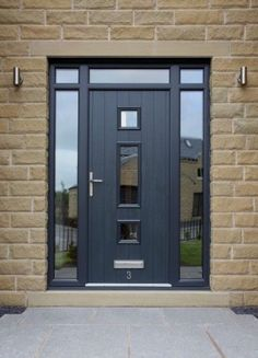Modern feel to a strong secure composite door
