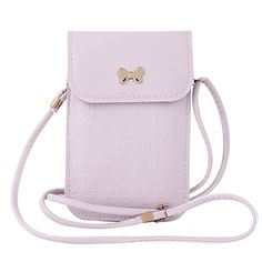Damara Womens Simple Metal Butterfly Slim Crossbody Phone BagPurple >>> Read more reviews of the product by visiting the link on the image.