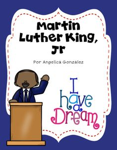 Hola!Here is a product that is perfect to use with your students to learn about Martin Luther King, Jr. What's included in this product:*Student mini-book in B/W (5 pages)*Teacher book in color (10 pages)*Vocabulary cards: amor, amistas, paz, protesta, unidad, mundo, discurso, Coretta Scott, Martin Luther King, Jr., Washington D.C., podio, sueo*Writing prompts: Martin Luther King, Jr., My dream is..., Friendship is important because... (they come with two MLK page toppers and a boy/girl…