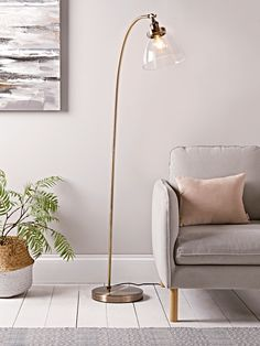 glass flooring NEW Domed Glass Floor Lamp - Brass - Modern Floor Lamps - Luxury Lamps amp; Curved Floor Lamp, Tall Floor Lamps, Glass Floor Lamp, Floor Standing Lamps, Metal Floor, Modern Floor Lamps, Modern Lighting, Tall Standing Lamp, Farmhouse Floor Lamps